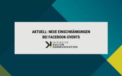 Aktuell: Neue Einschränkung bei Facebook-Events