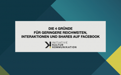 Die vier Gründe für geringere Reichweiten, Interaktionen und Shares auf Facebook