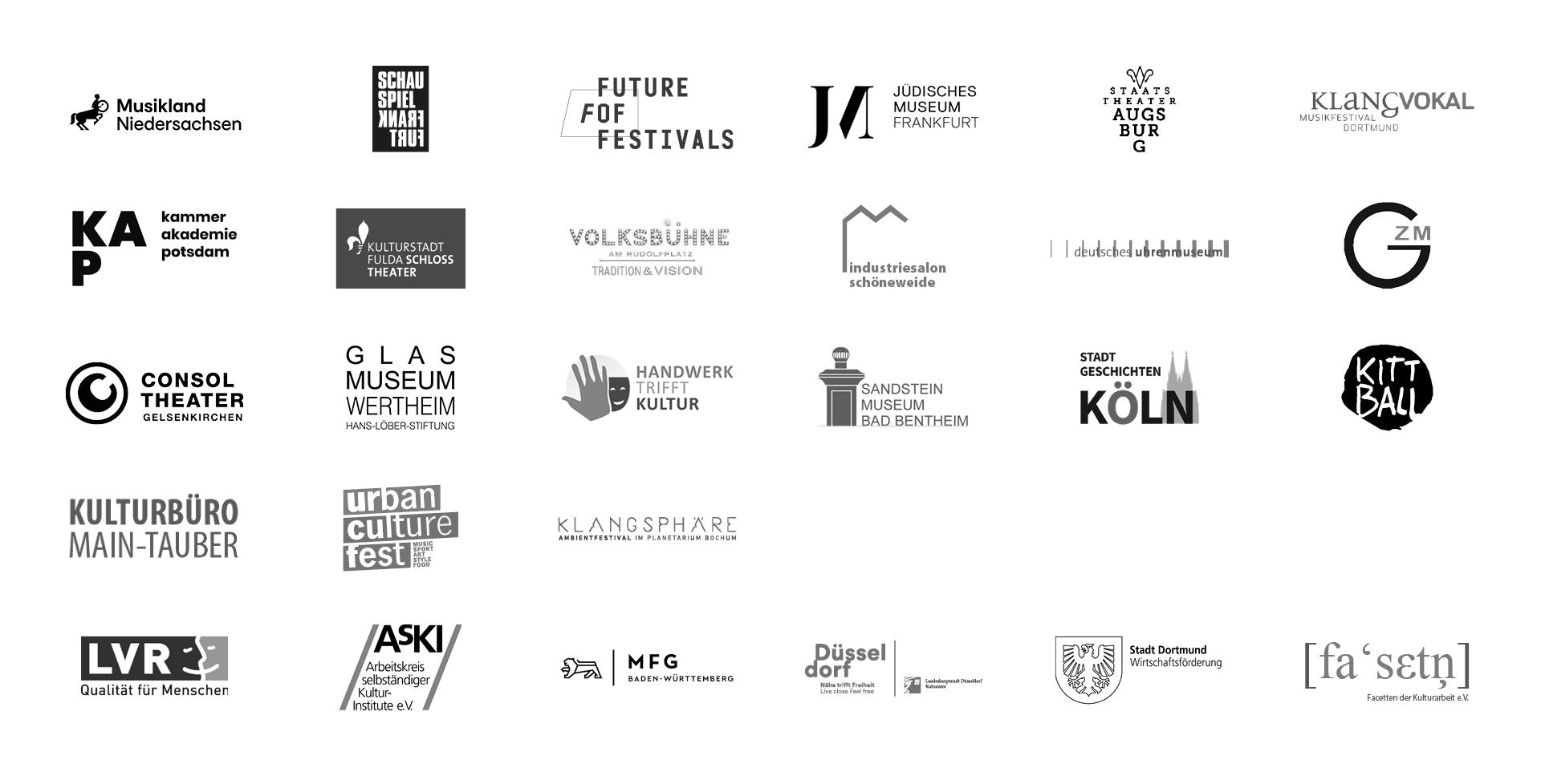 Diese Organisationen und Veranstalter setzen auf unsere Expertise